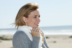 Woman beach Stock Photography