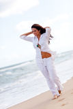Woman at the beach Royalty Free Stock Photos