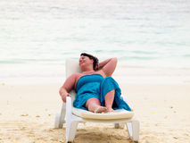 Woman on a beach Royalty Free Stock Photography