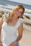 Woman beach Royalty Free Stock Photography