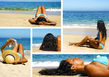 Woman at the beach Royalty Free Stock Photography