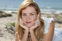 Woman beach Royalty Free Stock Photography
