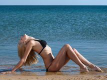 Woman on beach Royalty Free Stock Images