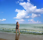Woman on the Beach. Stock Image