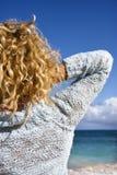 Woman on beach. Royalty Free Stock Photo