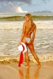 Woman on the beach. Beautiful Image Of a Model On the beach Of Kauai Stock Photo
