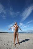 Woman in the beach Stock Photos