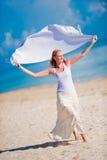 Woman On Beach Stock Photography