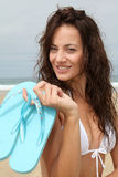 Woman beach accessories Royalty Free Stock Photography