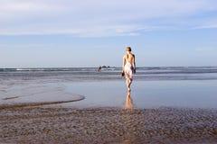 Woman on beach Australia 3. Woman on beach Australia Byron Bay Stock Photo
