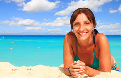 Woman on the beach Royalty Free Stock Photo