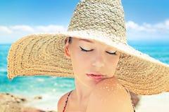 Woman on a beach Royalty Free Stock Photos