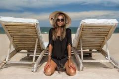 Woman At Beach royalty free stock image