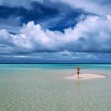 Woman at beach Stock Photos