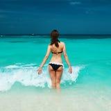 Woman at beach Stock Image