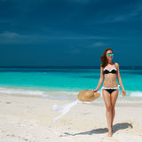 Woman at beach Royalty Free Stock Photos