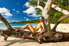 Woman at beach Stock Photo