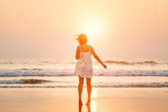 Woman on the beach. Royalty Free Stock Image