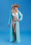 Woman in beach costume Royalty Free Stock Photo