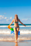 woman in the beach Stock Photo