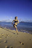Woman at the beach in hawaii Royalty Free Stock Image