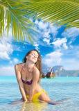Woman on the beach on Ko Phi Phi island Stock Image