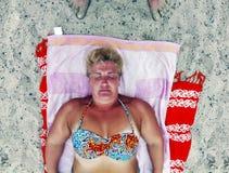 Woman at beach Royalty Free Stock Photo
