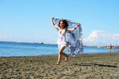 Woman on beach Royalty Free Stock Image