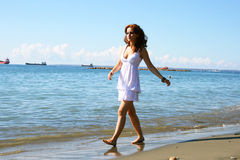 Woman on beach Royalty Free Stock Photo