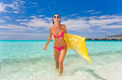 Woman beach recreation sport Stock Images