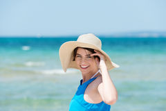 Woman in beach Stock Photo