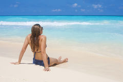 Woman on a Beach Vacation Royalty Free Stock Image