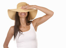 Woman in beach wear Royalty Free Stock Images