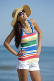 Woman in beach wear Stock Photos