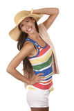 Woman in beach wear Royalty Free Stock Image