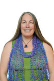 Woman with beaded scarf Stock Photography