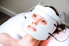 Woman in a beaty clinic Stock Photography