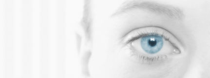 Woman With Beautiful Blue Eye Royalty Free Stock Photography