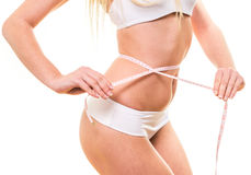 Woman with beautiful body after diet Royalty Free Stock Images