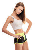 Woman with beautiful body after workout Stock Images