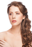 Woman with beautiful bridal hairstyle Royalty Free Stock Photos