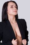 Woman with beautiful cleavage. Stock Photo