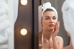 Woman with beautiful complexion Stock Image