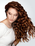 Woman with Beautiful Curly Hair Royalty Free Stock Photo
