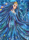 Woman in Beautiful Dress Stock Image