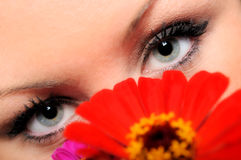 Woman with beautiful eyes Royalty Free Stock Images