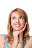 Woman with beautiful eyes. Stido shot Royalty Free Stock Image