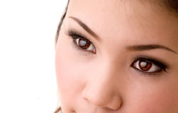 Woman beautiful eyes Stock Photo