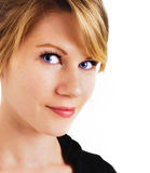 Woman with beautiful face and blue eyes Royalty Free Stock Photos