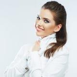 Woman beautiful face portrait. Model long hair portrait. Stock Photos